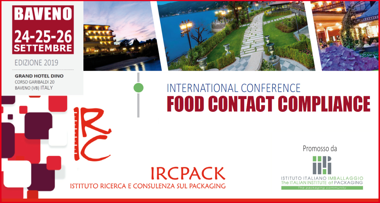 24-25-26 September 2019 – International Conference FOOD CONTACT COMPLIANCE Edition 2019