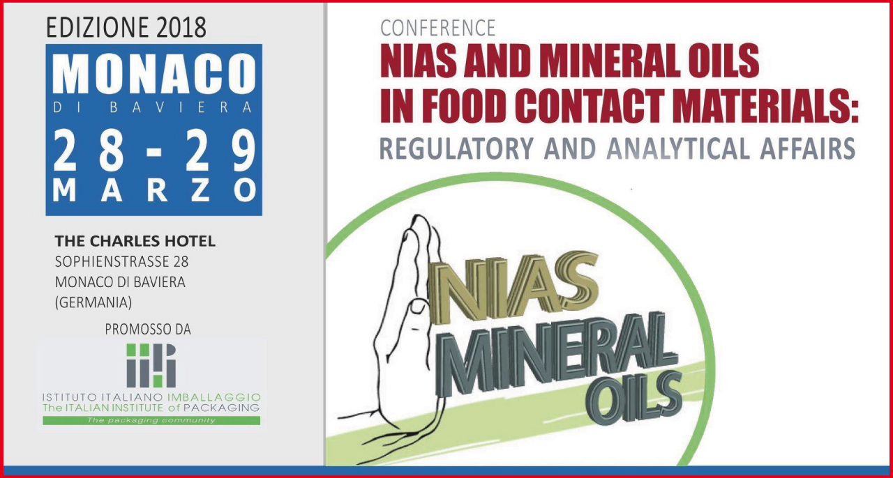 28/29 marzo – Conference NIAS AND MINERAL OILS IN FOOD CONTACT MATERIALS: REGULATORY AND ANALYTICAL AFFAIRS