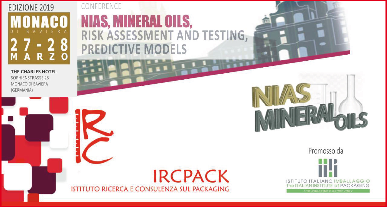 27-28 marzo 2019 – Conference NIAS, MINERAL OILS, RISK ASSESSMENT and TESTING, PREDICTIVE MODELS