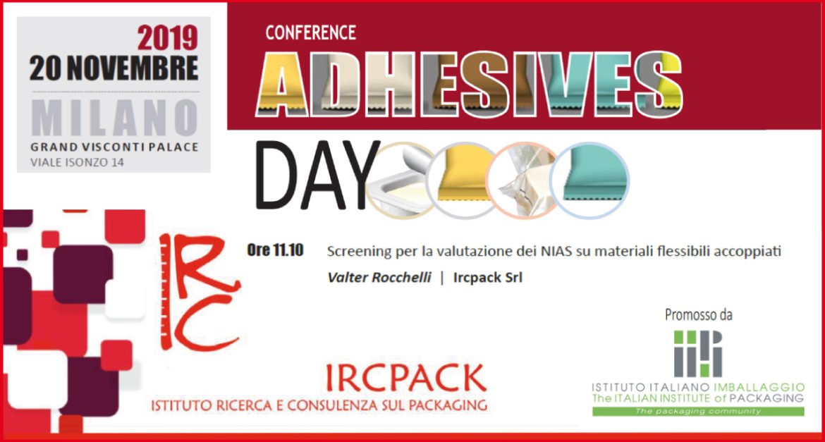 20 novembre 2019 – Conference ADHESIVES DAY
